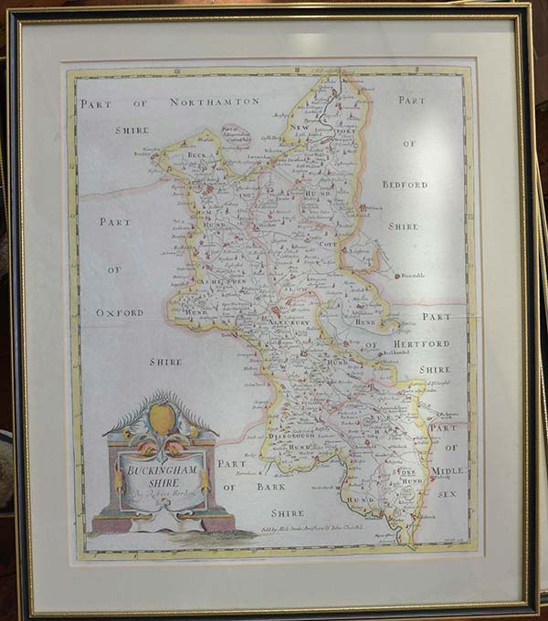 Antiques Original Outline Colour 1793 New Varieties Are Introduced One After Another Antique County Map Of Buckinghamshire By John Cary